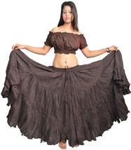 Dark Brown 35 Inches Dark Fusion Belly Dance Full Circle Skirts - Cleara... - $33.31