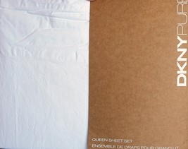 DKNY Pure White Garment Washed Queen Sheet Set  - $74.01