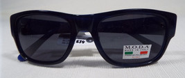 MODA IM201 Sunglasses Blue Frame Polarized Rx-able Lenses Made in Italy New - $58.00