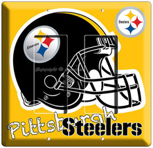 Pittsburgh Steelers Football Team Logo Double Gfci Light Switch Wall Plate Cover - $11.69