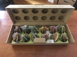 Flourish Natural Wood Easter Egg Ornaments, 1 Dozen