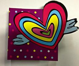 Purple Polka Dot Heart Novelty Note Paper Book - $2.96