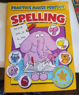 Practice Makes perfect Spelling worksheet book home school supply grades... - $3.99
