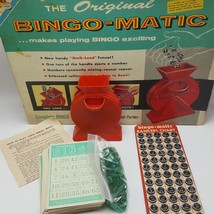 Transogram BIngo Matic Game 1960 Bingomatic Crank Quick Load Funnel Red ... - $21.77