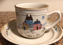 International Tableworks  Scene Cup  & Saucer Set 6 cups 6 Saucers Heart... - $23.95
