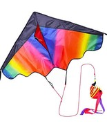 Zhuoyue Rainbow Kite for Kids and Adults,Single Line Kite Long Tail and ... - $9.50