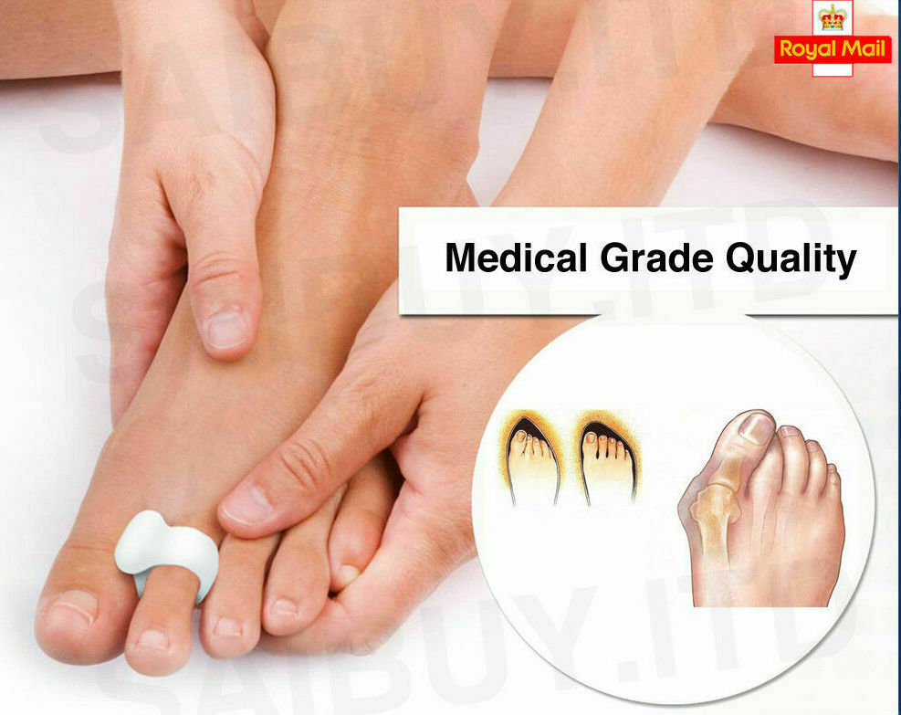Primary image for **NEW 2020** Gel Toe Orthotics Protector Corrector Straightener Separator Halax