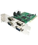 StarTech.com 4 Port PCI RS232 Serial adapter card - PCI - serial - 4 por... - $63.36