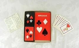 Vtg Royale Playing Cards Party Pak Bridge Set 2 Decks Score Pads Bonus H... - $15.83