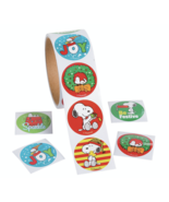 STICKERS - Snoopy Peanuts Christmas Stickers Use for Crafts Cards Envelope Seals - $2.49