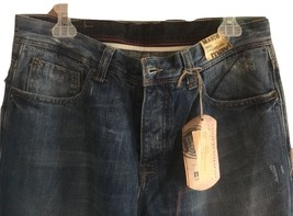 MENS MAVI MEDIUM WASH JEANS  MID-RISE WIDE LEG ZIP FLY SZ 27X 34 NWT $98 - $31.67