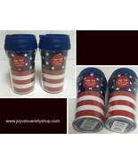 Patriotic US Flag Design 10 Oz Travel Cups Pop Top Lot of 2 - $11.99