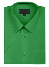 Men's Solid Color Regular Fit Button Up Premium Short Sleeve Dress Shirt image 10