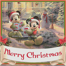"Disney's Mickey and Minnie Mouse ""Merry Christm... - $11.88"