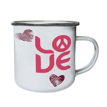 Love Me Valentine'S Day Funny Gift Retro,Tin, Enamel 10oz Mug d508e - $13.13