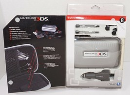 8 PC LOT - NINTENDO 3DS EXPLORER STARTER KIT SILVER CASE EAR BUD CAR CHA... - $6.88