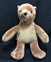 "Build A Bear Brown Seal Sea Lion 17"" Plush Zoo Stuffed Animal Aquatic Ma... - $19.95"