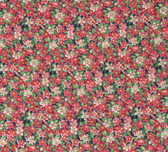 "Pink Flowers Cotton Fabric 34"" x 41"" Flowers The Kesslers for Concord Fa... - $8.90"