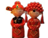 Lovely Couple Look Down Cat Resin Figurine Doll Decoration