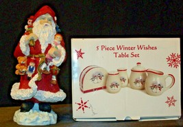 anta and 5 Piece Winter Wishes Table Set AA19-CD0052 Vintage image 2
