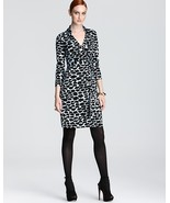 Diane von Furstenberg New Jeanne Two silk wrap dress Spotted Cloud  US ... - $249.99