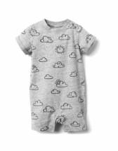 NWT Gymboree Sun Clouds Romper 1PC Newborn Essentials Baby Unisex Boy Girl 3-6 - $12.86