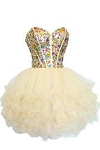 Rhinestone Short Sweetheart Tulle Girls Cheap Homecoming Dress,Short Pro... - $128.00