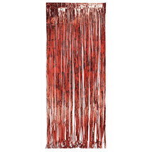 8ft x 3ft Door Foil Fringe Red/Case of 6 - $62.35