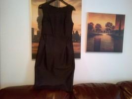 Zara black lined dress UK size L  - $55.00