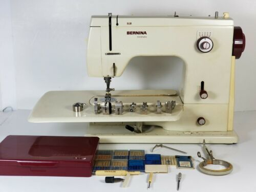 Primary image for Vintage Bernina 807 Minimatic sewing machine w/ bobbin, Case det.table & Accs!VG