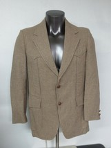 Pendleton Wool Jacket Coat 40R USA Made Mens Vintage Leather 2 Button Br... - $34.64