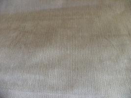 Beige Off White Herringbone Velvet Upholstery Fabric 1 Yd  R634 - $20.37