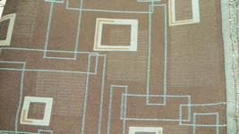 Brown Seafoam Green Abstract Print Fabric Upholstery Fabric 1 Yard F634 - $28.61