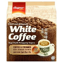 SUPER CHARCOAL ROASTED WHITE COFFEE 2 IN 1 (25g X 15 SACHETS)  - $18.90