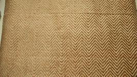 Gold Beige Herringbone Chenille Upholstery Fabric F639 - $36.81