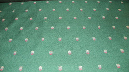 Green Mini Print Nylon Upholstery Fabric 1 Yd  R630 - $20.37