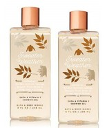 2 Bath & Body Works Sweater Weather Shower Gel - Leaves, Apples , Blue S... - $26.50