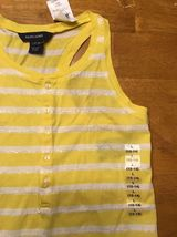 NWT Ralph Lauren Girl's Yellow & White Striped Sleeveless Shirt - Large 12/14 image 4