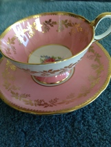 aynsley england bone China cup & saucer pink - $29.99