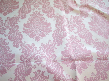 Pink/Gold Victorian Print Fabric/Upholstery Fabric Remnant-1 YD #223