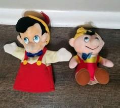Disney World  Pinocchio Stuffed Plush Hand Puppet Classic Style and plu... - $9.49