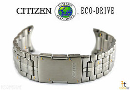 Citizen Eco-Drive S071062 Silver Tone Stainless Steel Watch Band Strap S... - $123.45