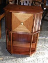 Walnut & Satinwood Nightstand Side Table - $249.00