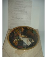 Norman Rockwell Dreaming In The Attic Plate Rediscovered Women 1981 w/ B... - $16.99