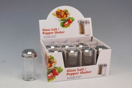 Salt or Pepper Glass Shaker with Stainless Steel Lid - $7.88