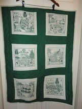 Smile QUILT Handcrafted Canada Waterloo 6 Story Panels Green 31 x 42 inc... - $28.85