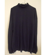 Mens Port Authority NWOT Navy Blue Long Sleeve Turtleneck Shirt Size 2XL - $14.95