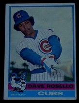 Dave Rosello, Cubs,  1976  #546 Topps  Baseball Card - GDC COND GREAT CARD - $2.96