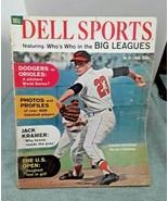 Dell Sports August 1961 Chuck Estrada Baltimore Orioles vintage magazine... - $9.89