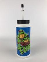 Vintage Teenage Mutant Ninja Turtles 1988 Plastic Sports Water Bottle wi... - $14.97